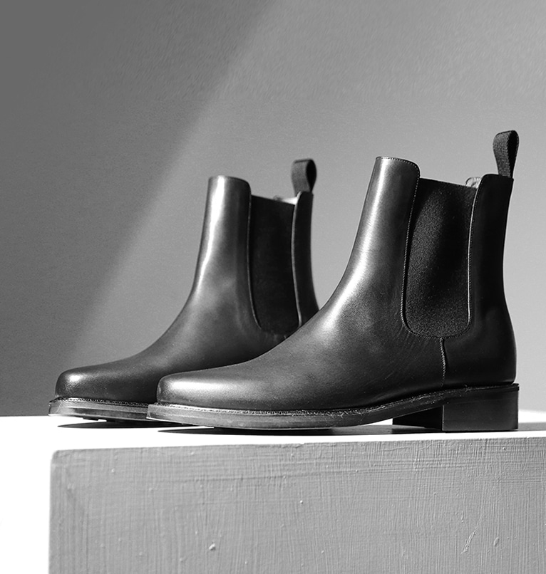 [HANDMADE] TAIN STRAP CHELSEA BOOTS